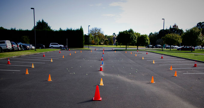 Basic Handling course, ready for the riders